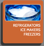 refrigerators, ice makers, freezers