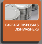 garbage disposals, dishwashers